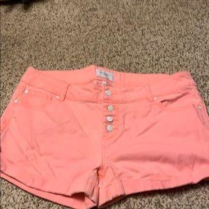 Pink shorts, size 13/31.